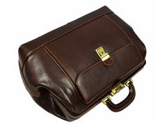 Brown Leather Doctor Bag - Hamlet for Men and Women by Time Resistance on Jetset Times SHOP