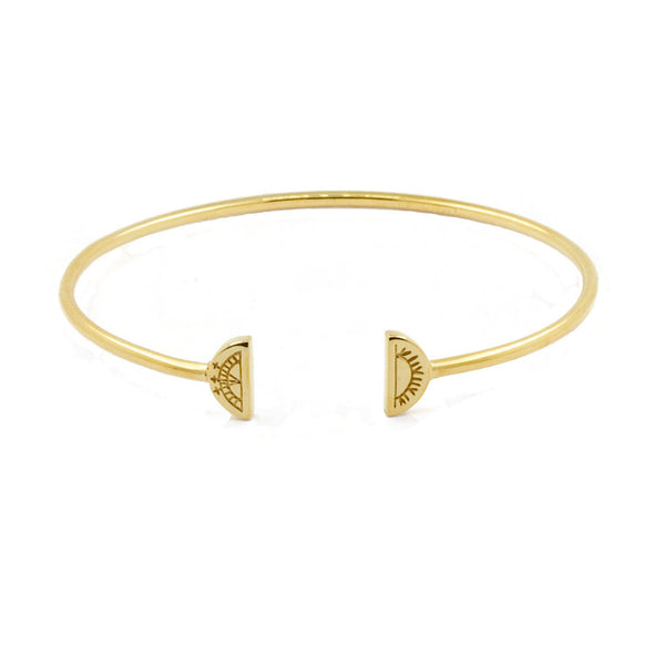 Women's Sun & Moon Bangle - Gold Vermeil by No 13 on Jetset Times SHOP