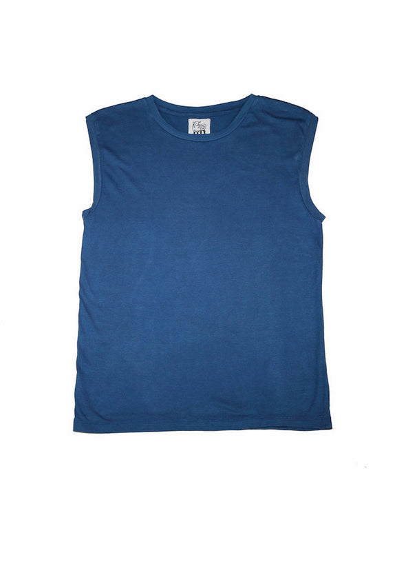 Modal Tank in Indigo for Men and Women by One For The Road on Jetset Times SHOP