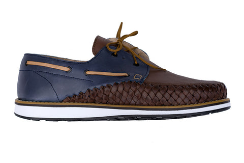 Men's Blue Casual Leather Shoes - Puerto Vallarta