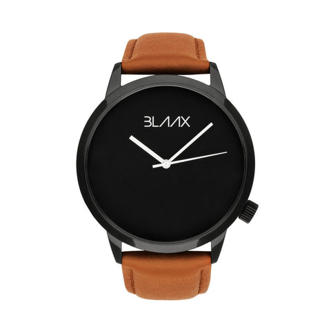 Brown Leather Minimalist Watch for Men & Women - Bondi Sun