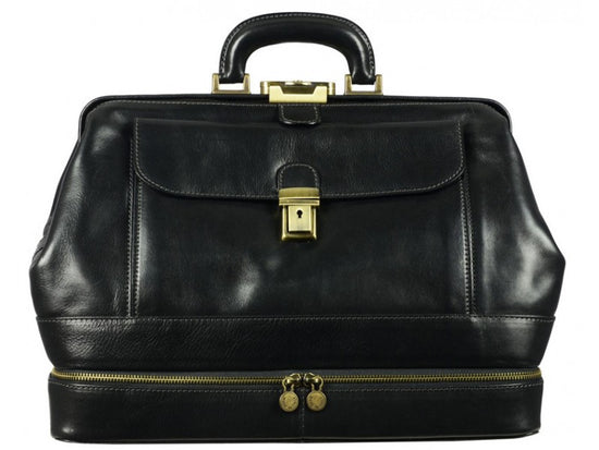 Black Leather Doctor Bag - The Master and Margarita for Men and Women by Time  Resistance 616d231a2fb4b