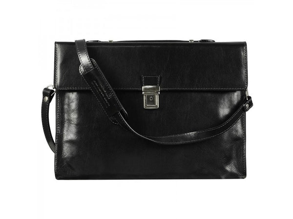 Leather Briefcase Laptop Bag for Men and Women - Moonheart in Various Colors