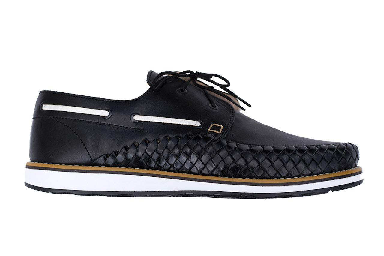 Men's Casual Leather Shoes - Puerto Vallarta in Black by TapatÌ_a on Jetset Times SHOP