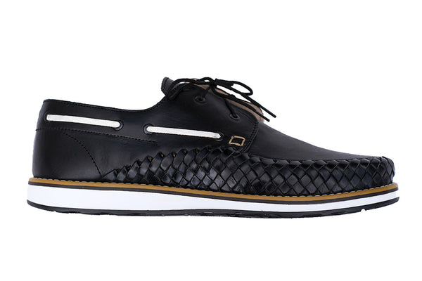 Men's Casual Leather Shoes - Puerto Vallarta in Black by Tapatía on Jetset Times SHOP