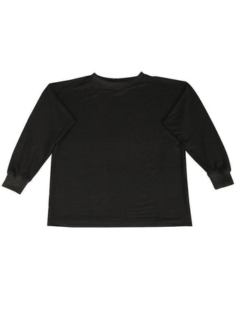Black Jersey Pullover for Men and Women - Bamboo