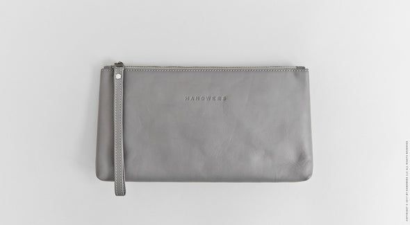 Leather Travel Pouch Case - Yukon in Gray by HANDWERS on Jetset Times SHOP