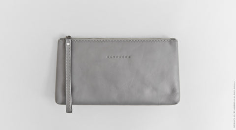 Leather Travel Pouch Case - Yukon in Gray