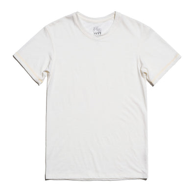 Hudson Merino Wool T-Shirt in Ivory White for Men and Women by One For The Road on Jetset Times SHOP