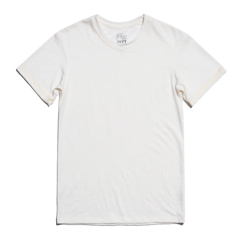 Hudson Merino Wool T-Shirt for Men and Women - Ivory White