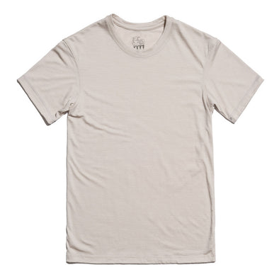 Hudson Merino Wool T-Shirt in Stone Gray for Men and Women by One For The Road on Jetset Times SHOP