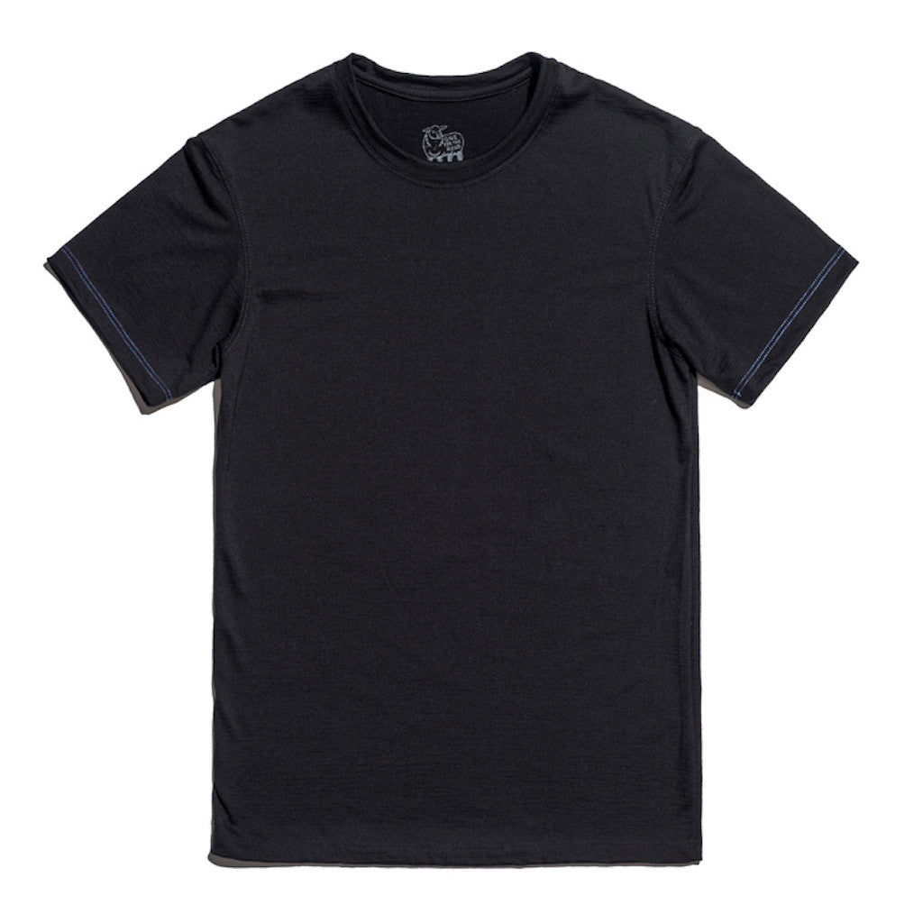 Hudson Merino Wool T-Shirt in Midnight Black for Men and Women by One For The Road on Jetset Times SHOP
