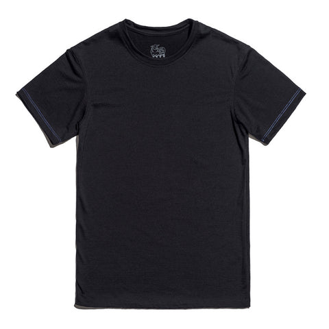Merino Wool Black T-Shirt for Men and Women - Hudson
