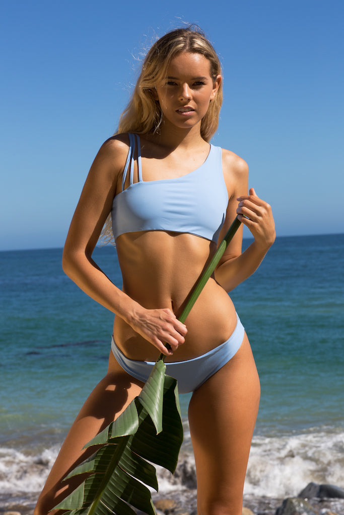 Women's Reversible Bikini Bottoms - Tiffany in Gray/Sky Blue by Lagoa Swimwear on Jetset Times SHOP
