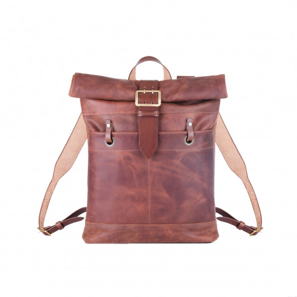 Roll Top Vintage Buckle Backpack