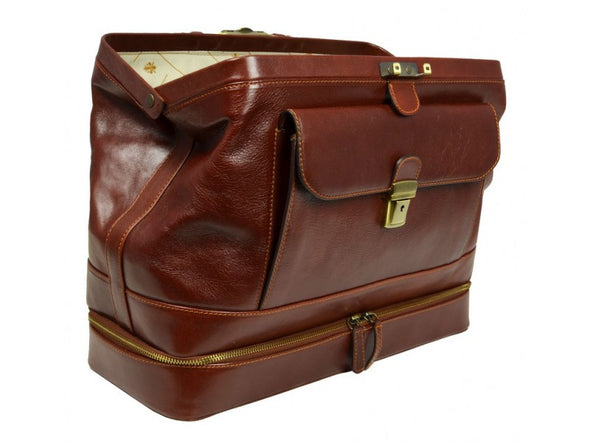 Brown Leather Doctor Bag - The Master and Margarita for Men and Women by Time Resistance on Jetset Times SHOP