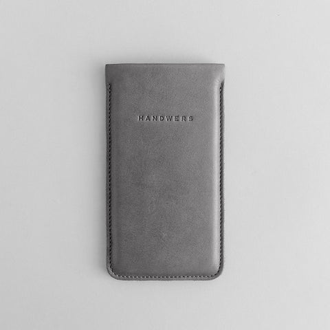 Leather iPhone/iPhone Plus/iPhone X Sleeve - Nile in Gray