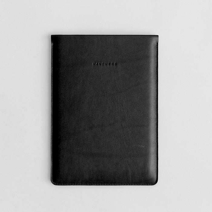 "Leather iPad Pro 10.5"" Sleeve - Hike in Black by HANDWERS on Jetset Times SHOP"