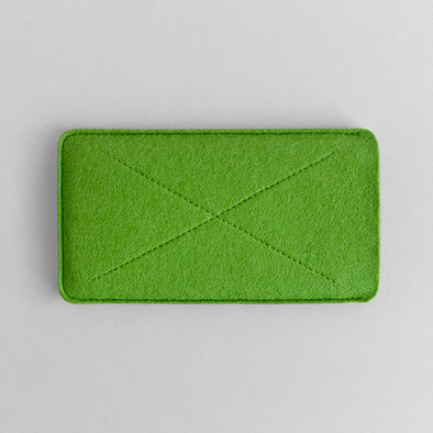 Green Wool Felt iPhone/iPhone Plus Sleeve - Cross by HANDWERS on Jetset Times SHOP