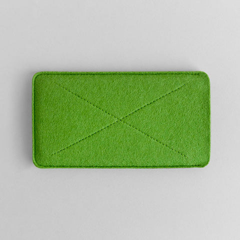Wool Felt iPhone/iPhone Plus Sleeve - Cross in Green
