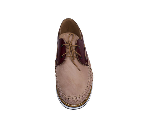 Men's Bordeaux Casual Leather Shoes - Puerto Vallarta