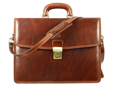 The Sound of the Mountain Leather Briefcase