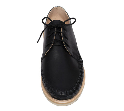 Black Casual Leather Shoes for Men and Women - Sayulita