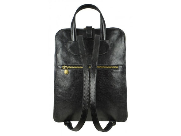 Women's Black Leather Backpack - Clarissa by Time Resistance on Jetset Times SHOP