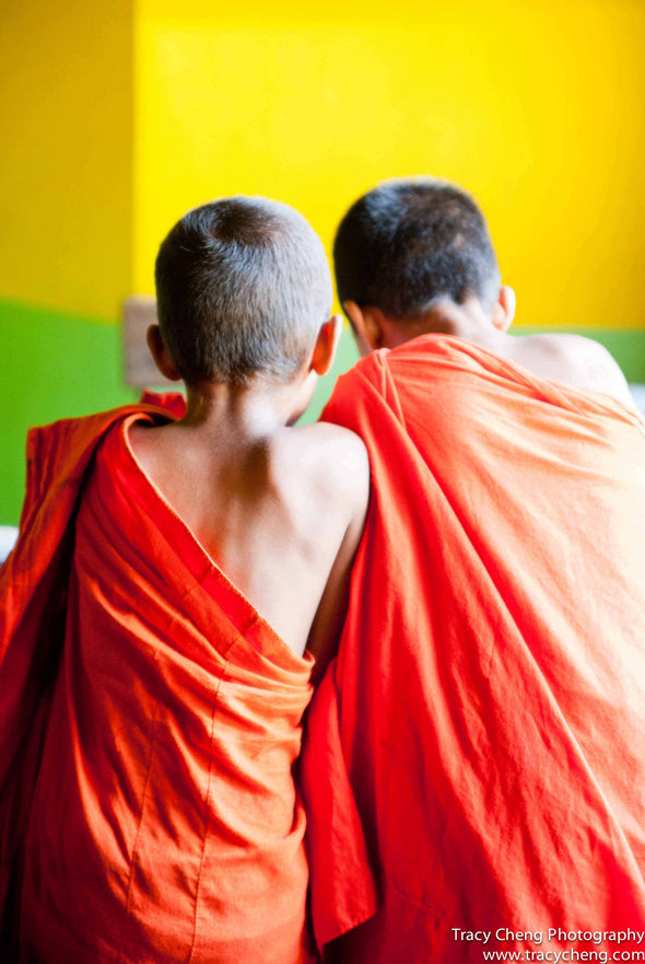 Little Monks, Sri Lanka - Photography Wall Art Print by Tracy Cheng Photography on Jetset Times SHOP
