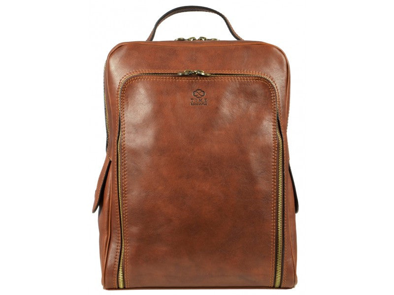 Brown Leather Backpack - The Sun Also Rises for Men and Women by Time Resistance on Jetset Times SHOP