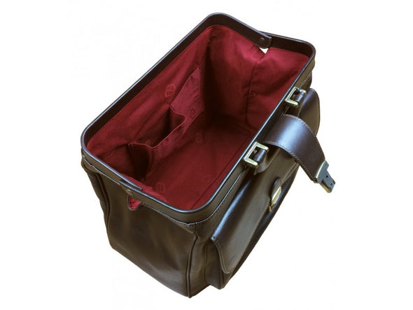 Dark Brown Leather Doctor Bag - The Pursuit of Love for Men and Women by Time Resistance on Jetset Times SHOP