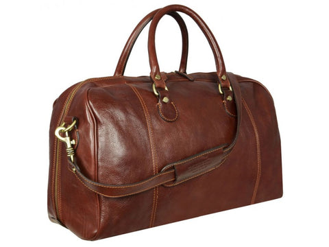Leather Duffel Bag for Men and Women - The Count of Monte Cristo in Various Colors