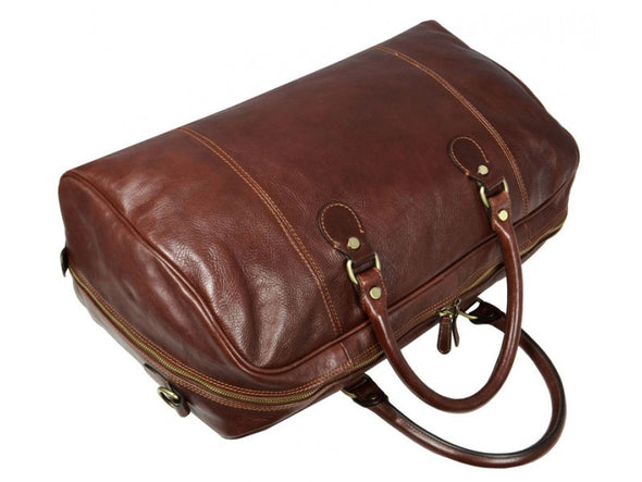 Brown Leather Duffel Bag - The Count of Monte Cristo for Men and Women by Time Resistance on Jetset Times SHOP