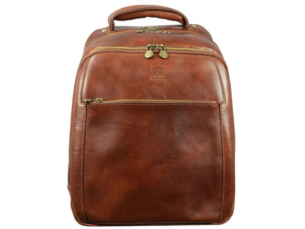 Brown Leather Backpack for Men and Women - The Perks of Being a Wallflower