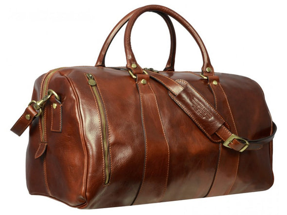 Brown Leather Duffel Bag - Wise Children Men and Women by Time Resistance on Jetset Times SHOP