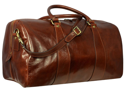 Leather Duffel Bag for Men and Women - Wise Children in Various Colors