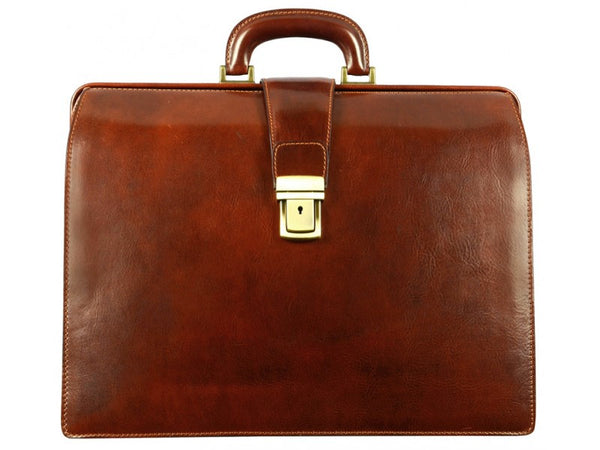 Brown Leather Briefcase for Men and Women - The Firm