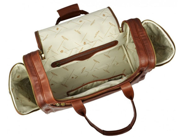 Brown Large Leather Duffle Bag - The Hitchhiker's Guide to the Galaxy