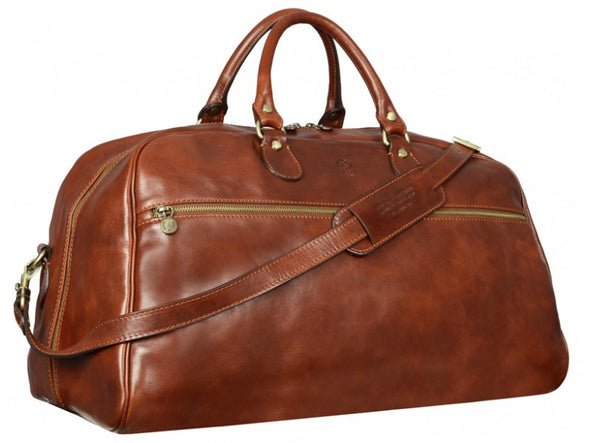 Brown Leather Duffel Bag - Fear and Loathing in Las Vegas for Men and Women by Time Resistance on Jetset Times SHOP