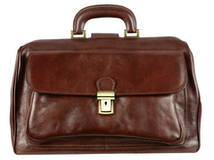 Brown Leather Doctor Bag - The Pursuit of Love for Men and Women by Time Resistance on Jetset Times SHOP