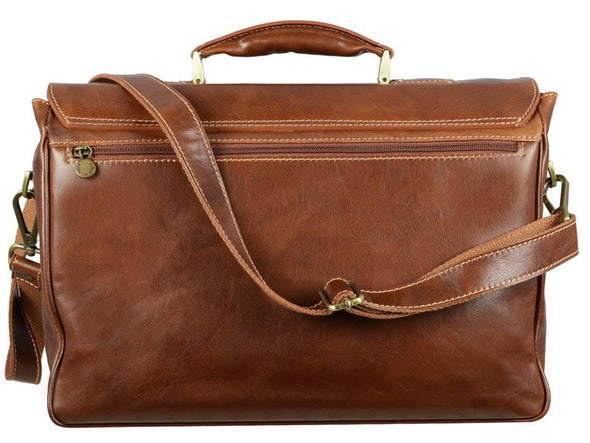 Brown Leather Briefcase - The Catcher in the Rye for Men and Women by Time Resistance on Jetset Times SHOP
