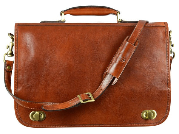 Leather Briefcase for Men and Women - Illusions in Various Colors