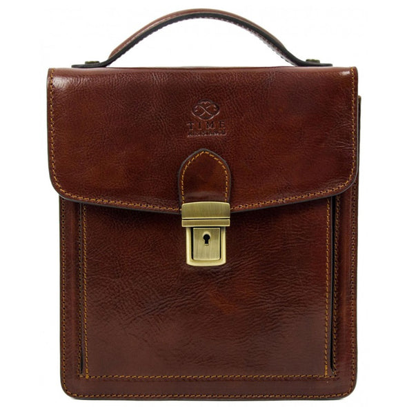 Brown Small Leather Briefcase - Walden