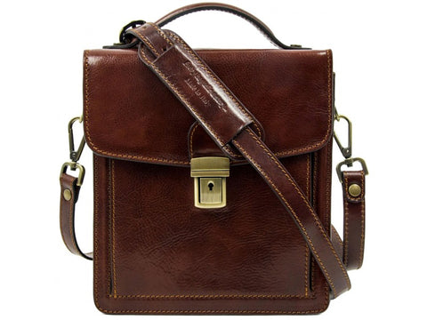 Small Brown Leather Briefcase for Men and Women - Walden