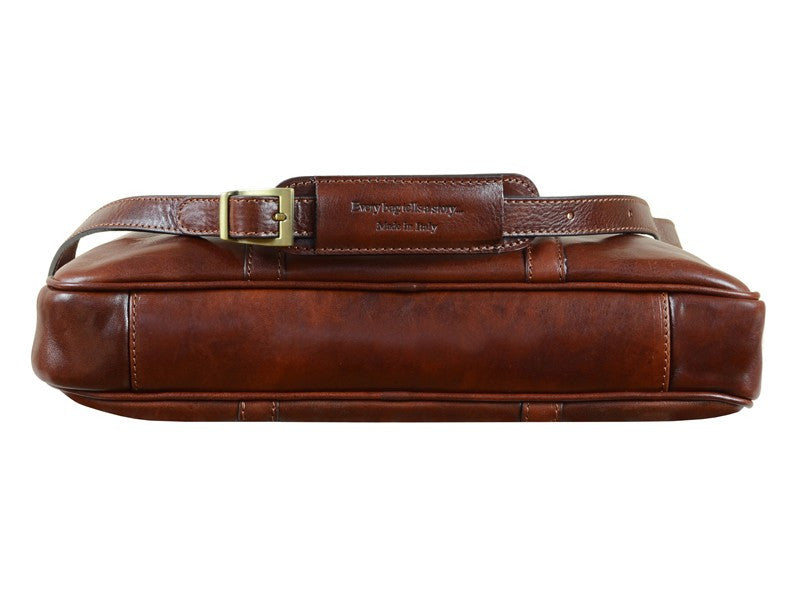 Brown Leather Laptop Bag - The Hobbit for Men and Women by Time Resistance on Jetset Times SHOP