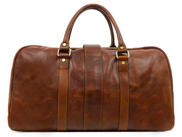 Brown Leather Duffle Bag - Tender is the Night