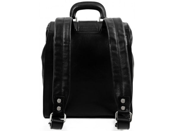 Black Leather Backpack - A Brief Story of Time