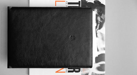 Leather Macbook/MacBook Air/MacBook Pro Sleeve - Hike in Black