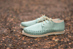 Women's Casual Leather Shoes - Sayulita in Turquoise by TapatÌ_a on Jetset Times SHOP