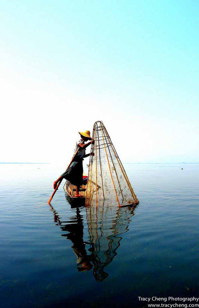 One-legged Fisherman - Photography Wall Art Print by Tracy Cheng Photography on Jetset Times SHOP